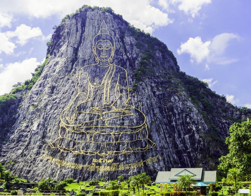 菩萨山在芭达亚 图库摄影