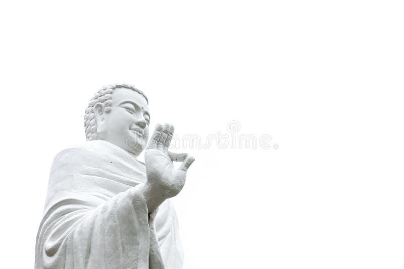 菩萨常设手雕象在Vitarka Mudr姿态上升了  库存照片