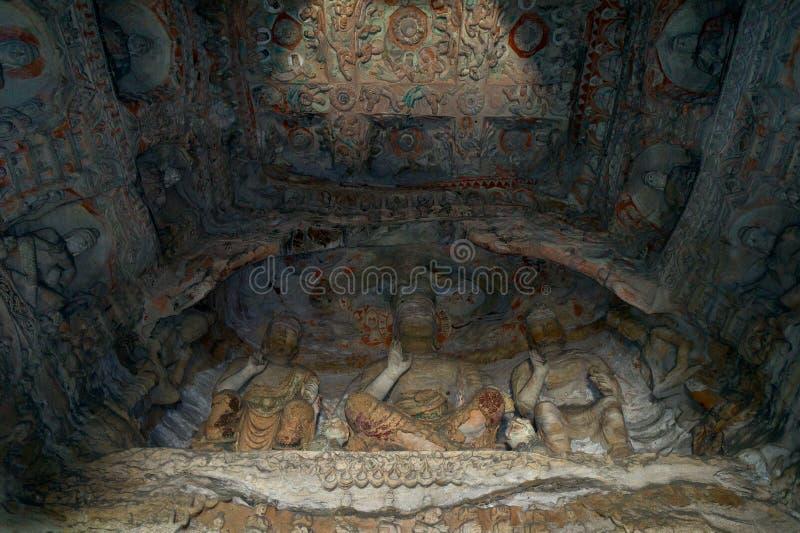 菩萨洞洞穴yungang 免版税库存图片