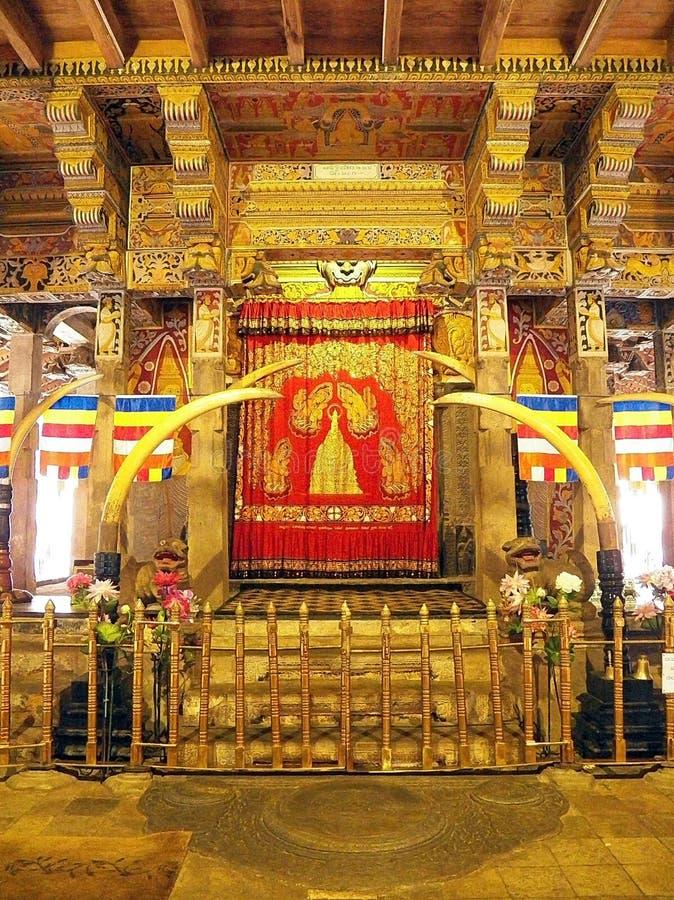 菩萨牙遗物的圣所在Sri Dalada Maligawa,斯里兰卡 库存图片
