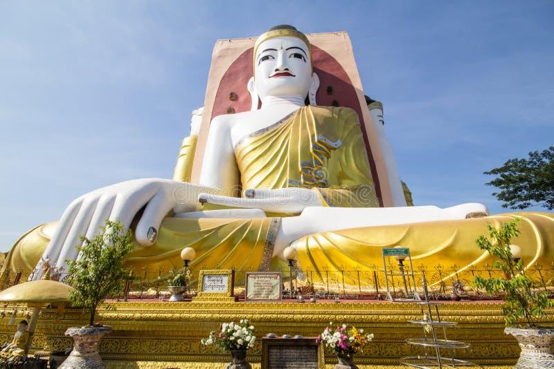 菩萨的四张面孔Kyaikpun的菩萨, Bago,缅甸 库存照片
