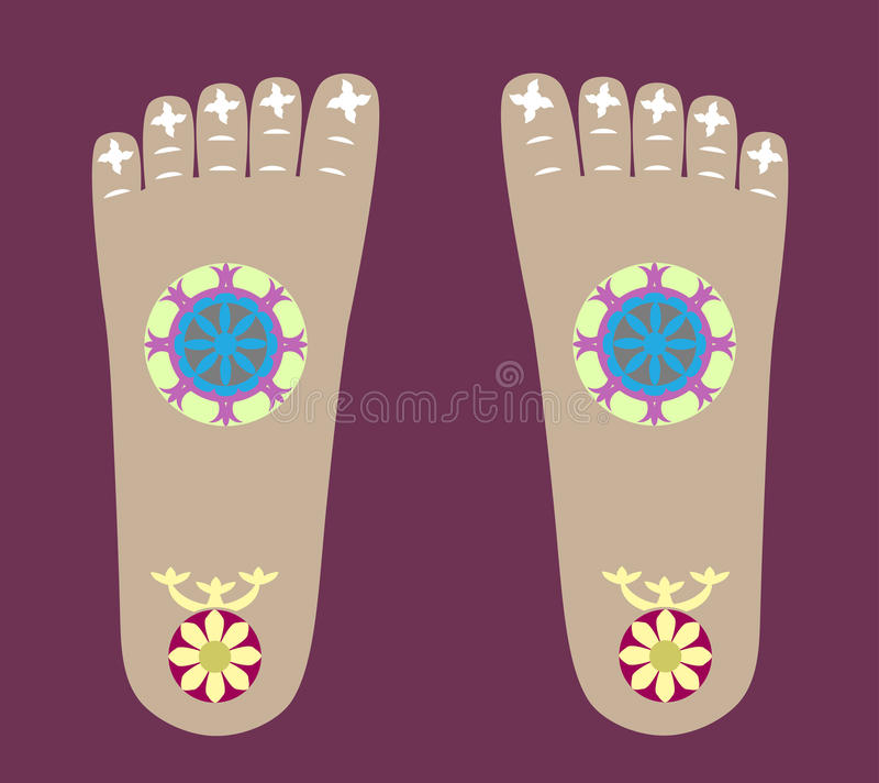 菩萨的Footprints阁下 皇族释放例证