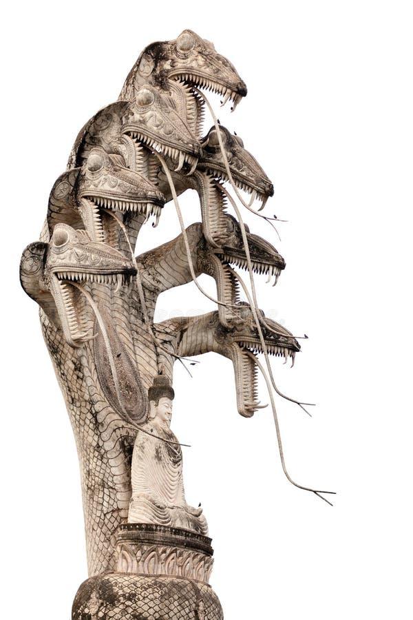 菩萨眼镜蛇雕象 免版税库存照片