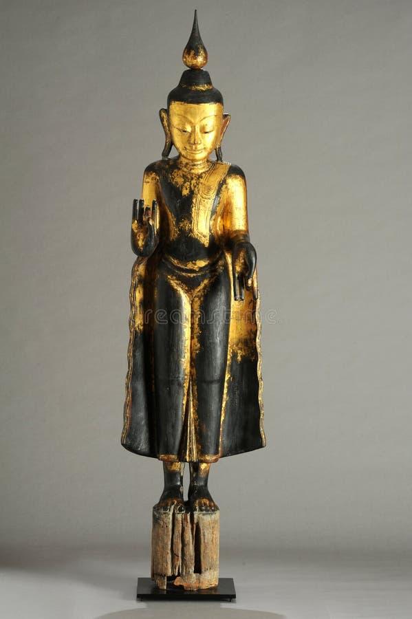菩萨缅甸雕象  免版税库存图片