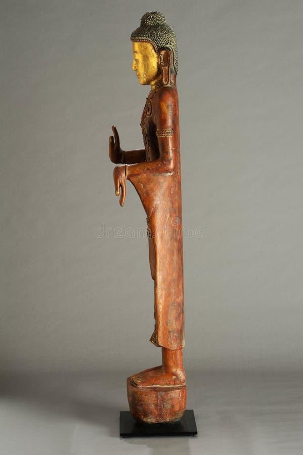 菩萨缅甸雕象  库存照片