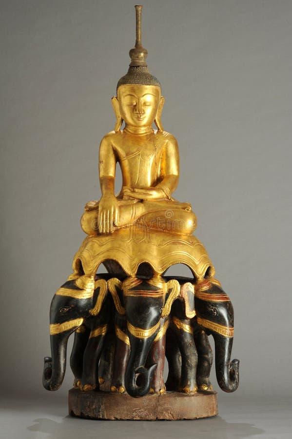 菩萨缅甸雕象  库存图片