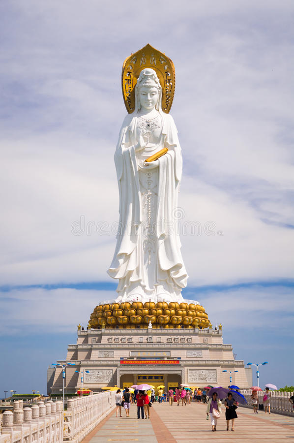 菩萨观世音菩萨,海南岛,中国 免版税库存图片