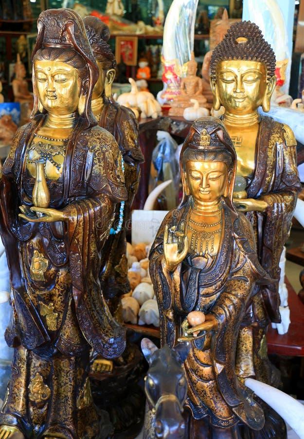 菩萨雕塑 免版税库存图片