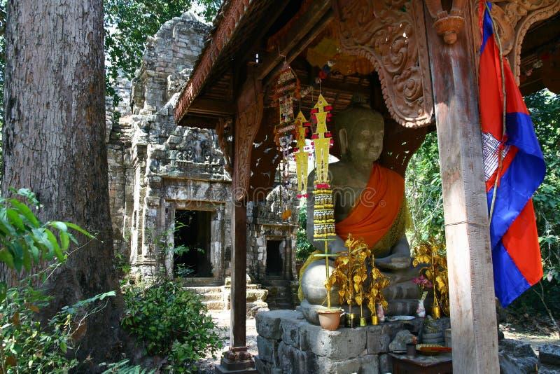 菩萨雕象在吴哥瓦特 库存照片