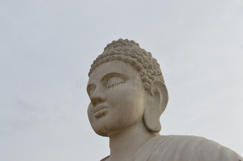 菩萨雕象在Chandigarh湖,印度 库存照片