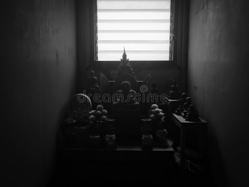菩萨雕象室 免版税库存照片