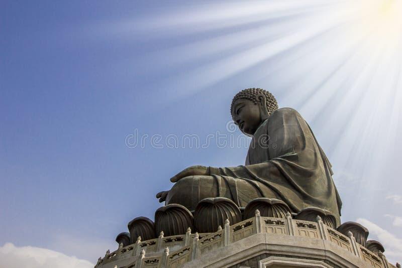 菩萨雕象,香港 免版税库存图片
