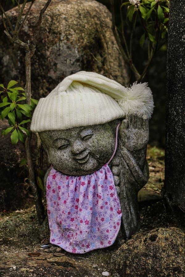 菩萨雕象Daisho在寺庙是一个最有名望的真言宗寺庙在宫岛海岛,日本 免版税库存照片