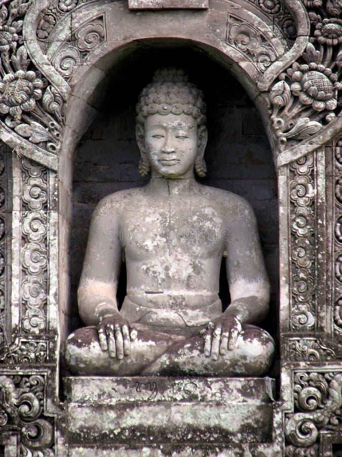 菩萨,一座寺庙阁下在巴厘岛,印度尼西亚 图库摄影