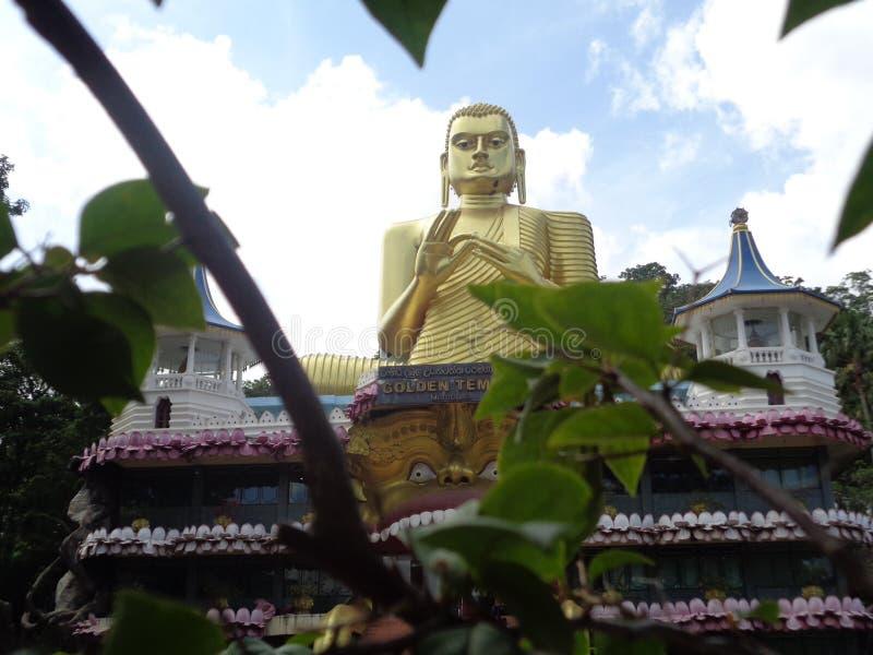 菩萨dambulla雕象在斯里兰卡 库存照片