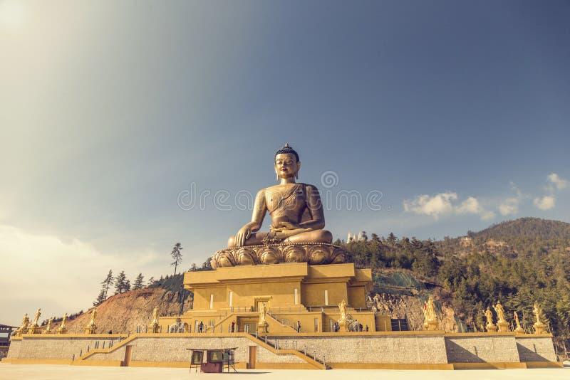 菩萨Dordenma雕象在廷布不丹 库存照片
