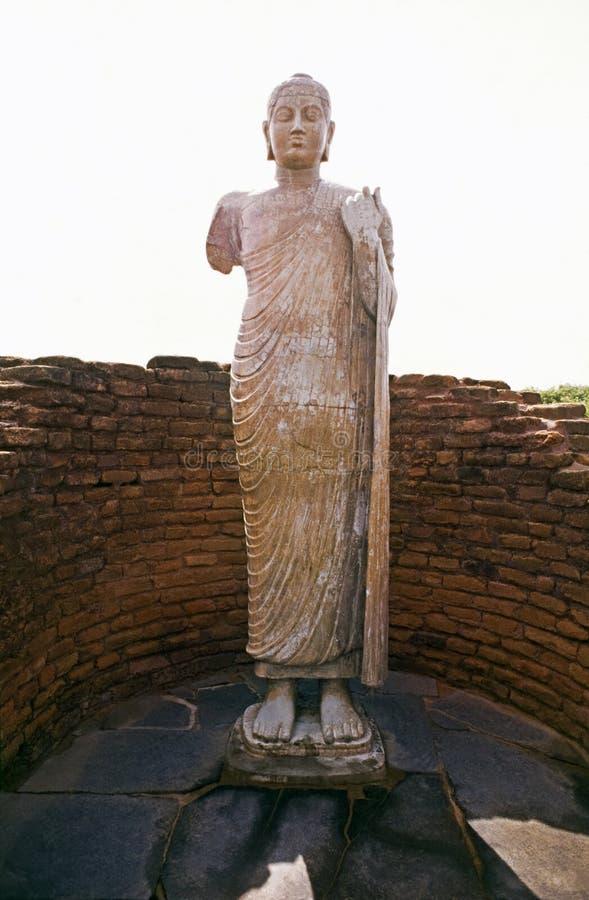 菩萨nagarjuna sagar雕象 免版税图库摄影