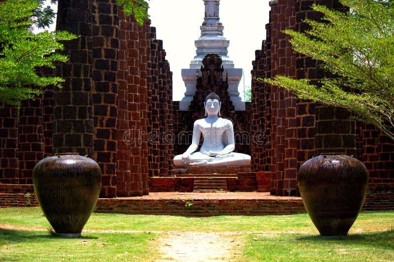 菩萨Samadhi雕象  图库摄影