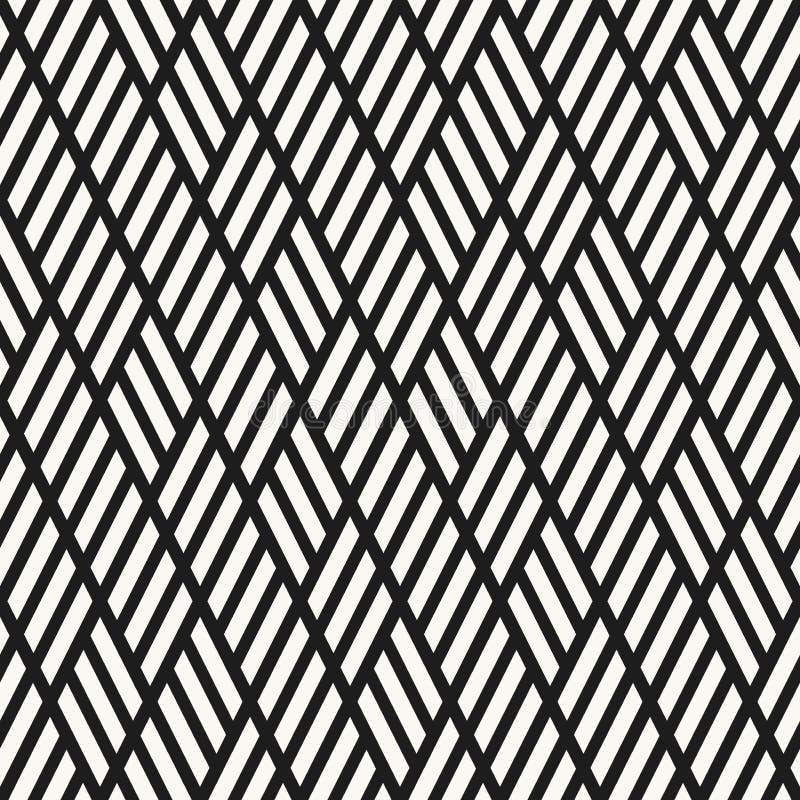 菱形和平行四边形无缝的样式 向量例证
