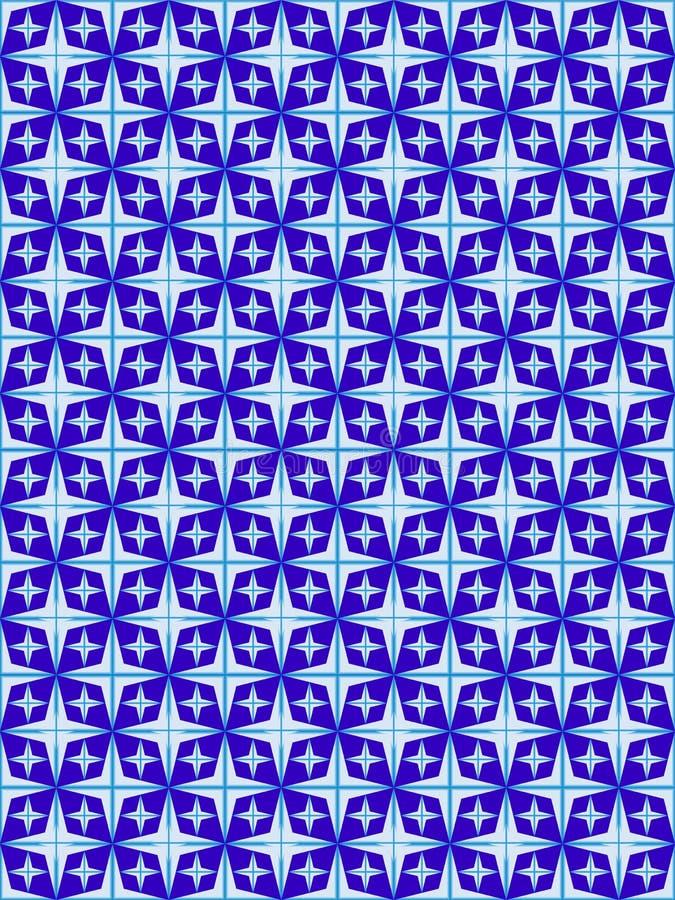 从菱形和星号的抽象几何样式 图库摄影