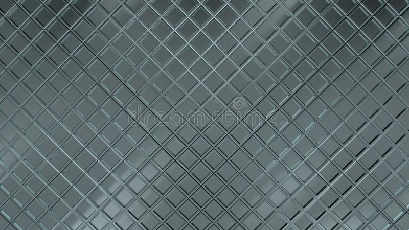 菱形样式金属表面  3D回报了反射性纹理背景 向量例证