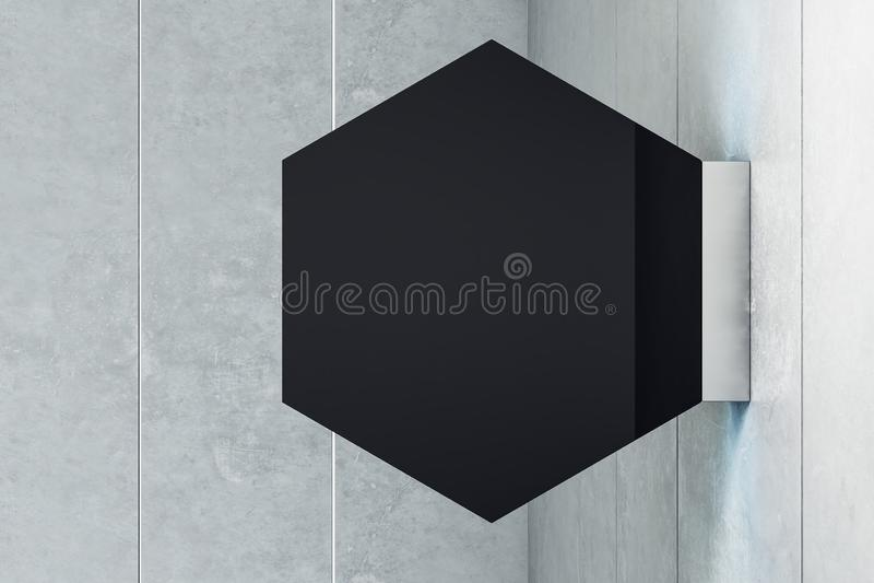 菱形黑色停止者 向量例证