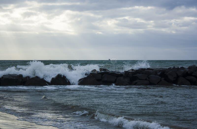菲乌米奇诺海滩04 免版税图库摄影