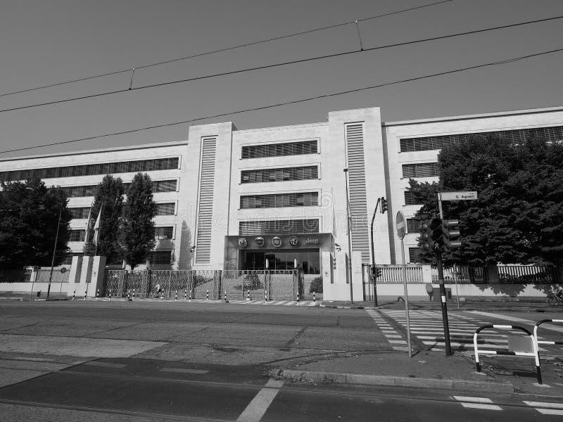 菲亚特Mirafiori克莱斯勒汽车(FCA)汽车工厂在都灵i 库存图片