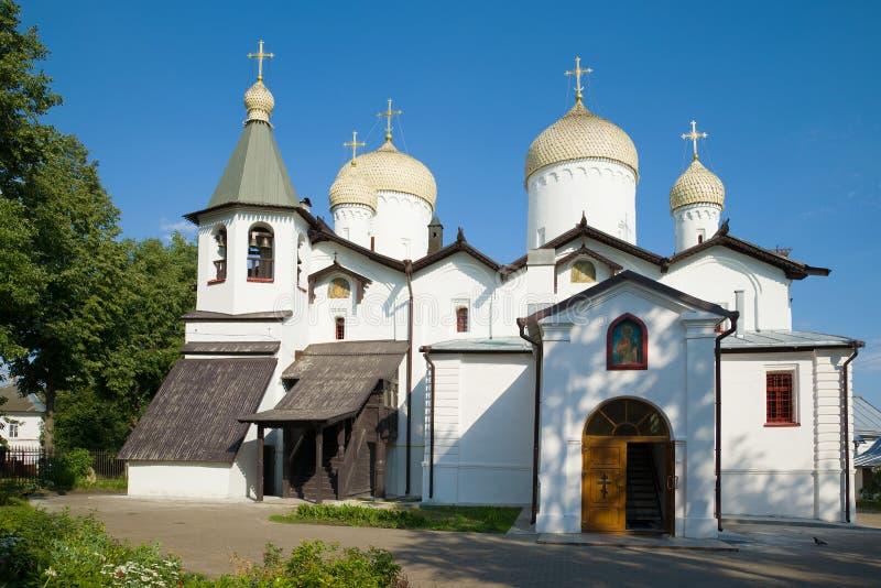 菲利普教会传道者和尼古拉斯Wonderworker novgorod veliky的俄国 免版税库存照片