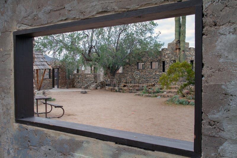 菲尼斯亚利桑那古迹蝎子谷 免版税图库摄影