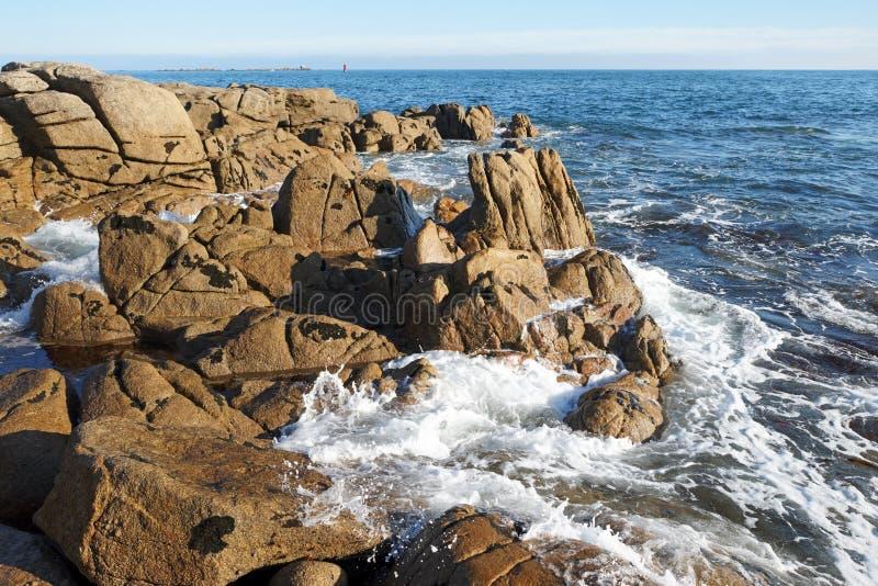 菲尼斯泰尔省海岸 库存照片