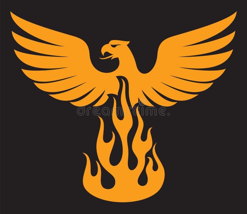 菲尼斯鸟 皇族释放例证