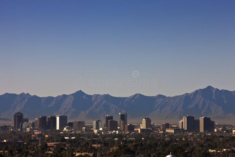 菲尼斯,亚利桑那地平线 免版税库存图片