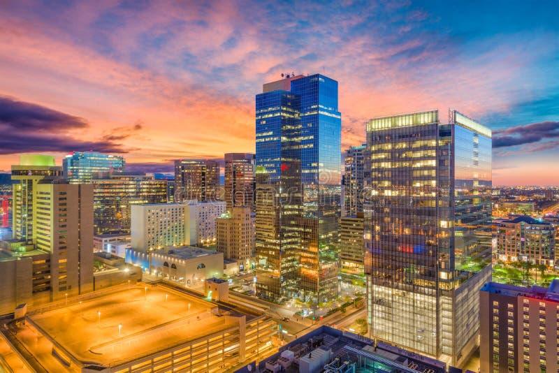 菲尼斯,亚利桑那,美国都市风景 图库摄影