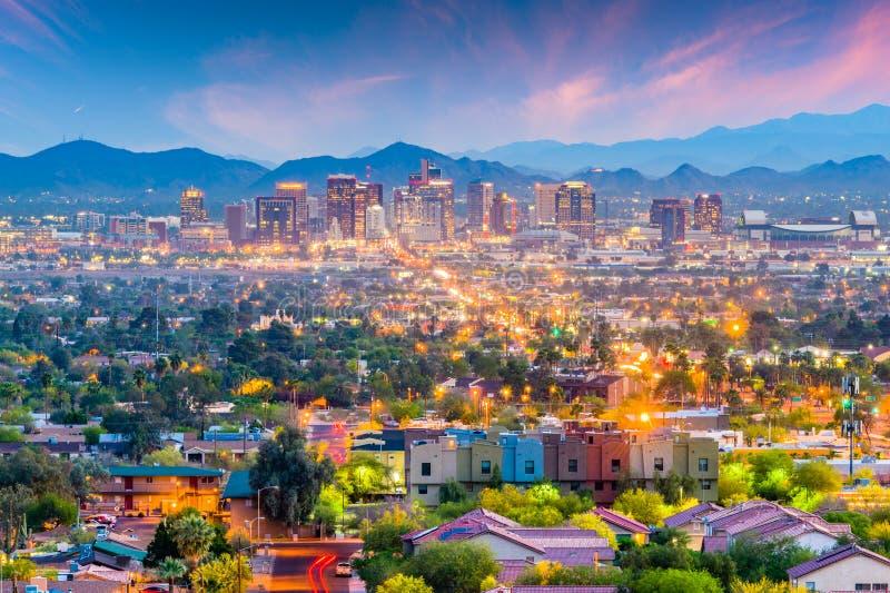 菲尼斯,亚利桑那,美国都市风景 库存图片