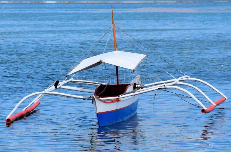 菲律宾传统渔夫小船 库存照片