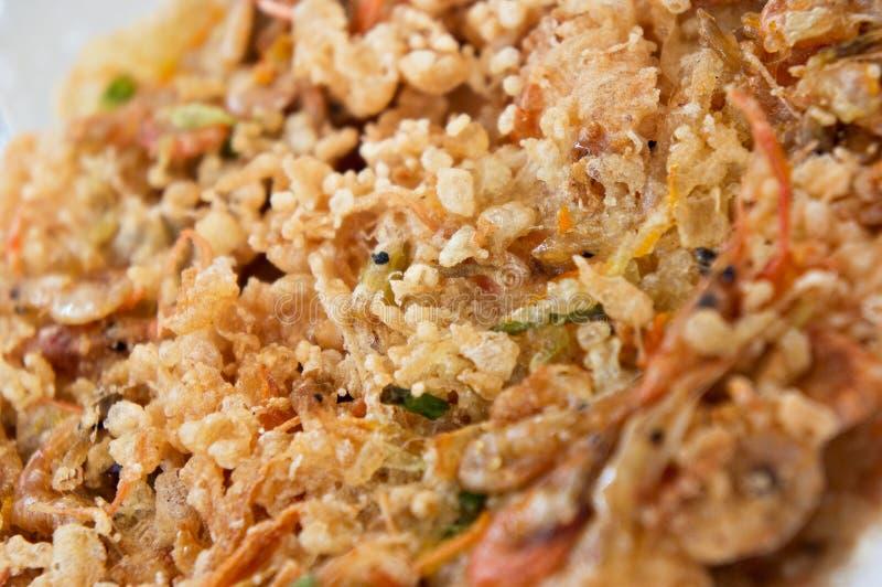 菲律宾传统食物okoy的街道 免版税库存图片