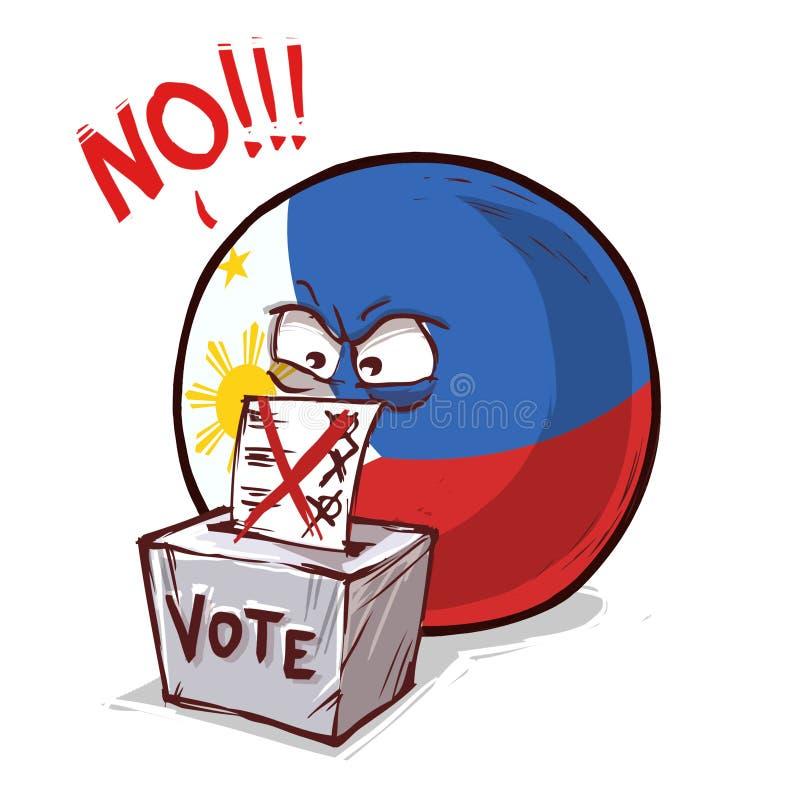 菲律宾投反对票国家的球 皇族释放例证