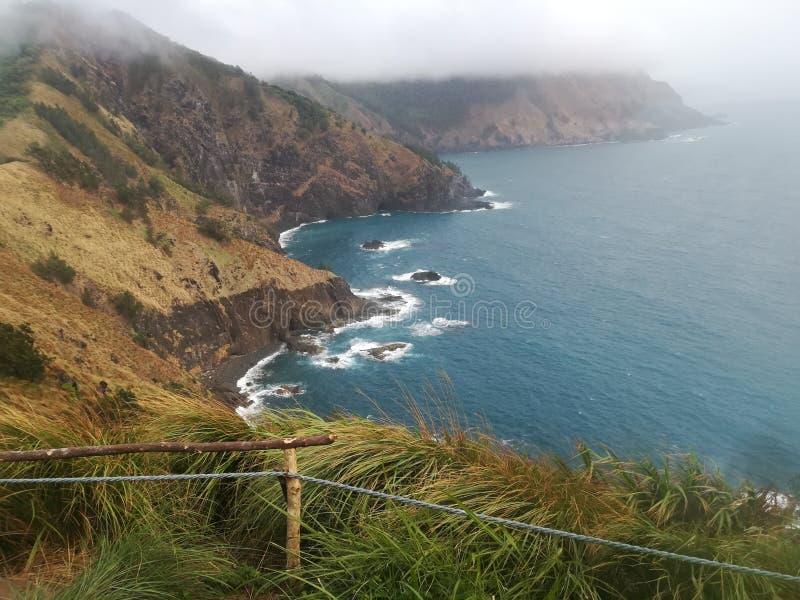 菲律宾海和山  免版税库存图片
