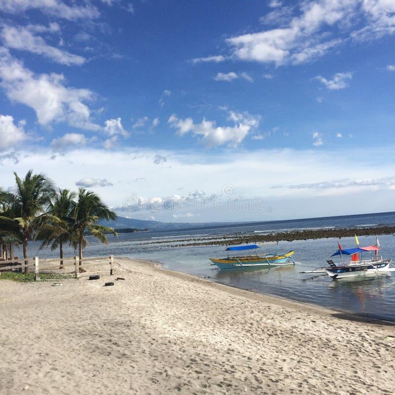 菲律宾海滩边 图库摄影