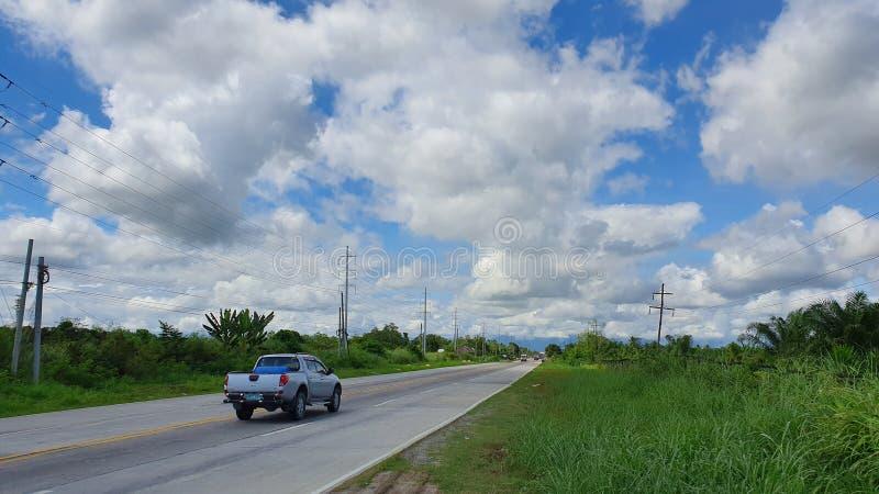 菲律宾苏丹库达拉特省国道 图库摄影