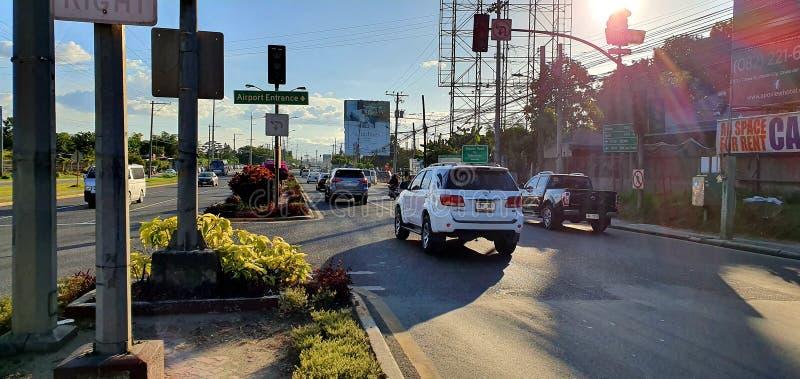 菲律宾达沃市市区道 免版税库存图片