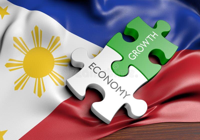 菲律宾经济和金融市场成长概念 库存例证