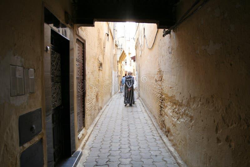菲斯缩小的街道 库存图片