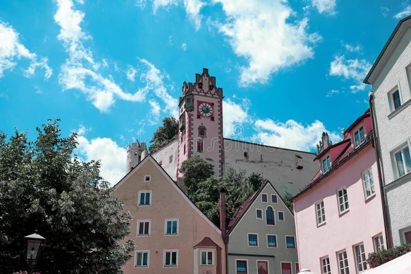 菲森是一个镇在巴伐利亚,德国 免版税库存照片