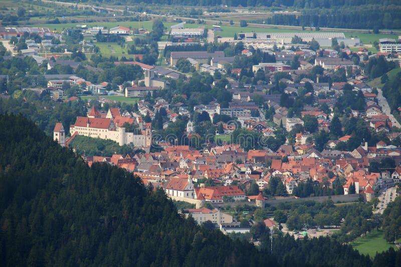菲森镇,巴伐利亚,德国看法  免版税图库摄影
