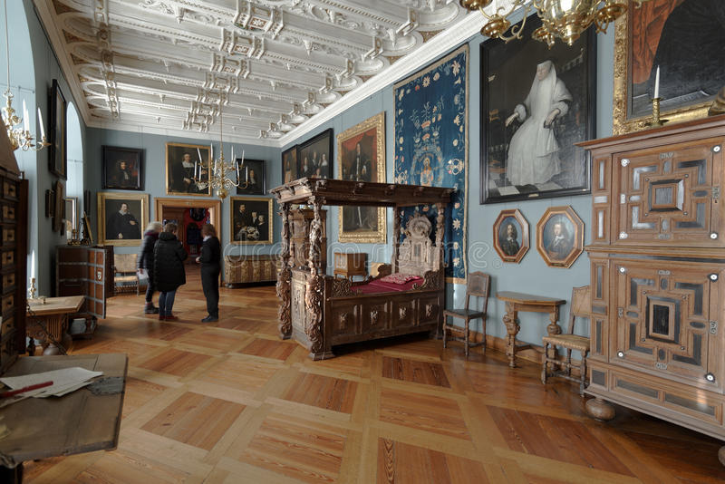 菲特列堡城堡的,丹麦人们 图库摄影