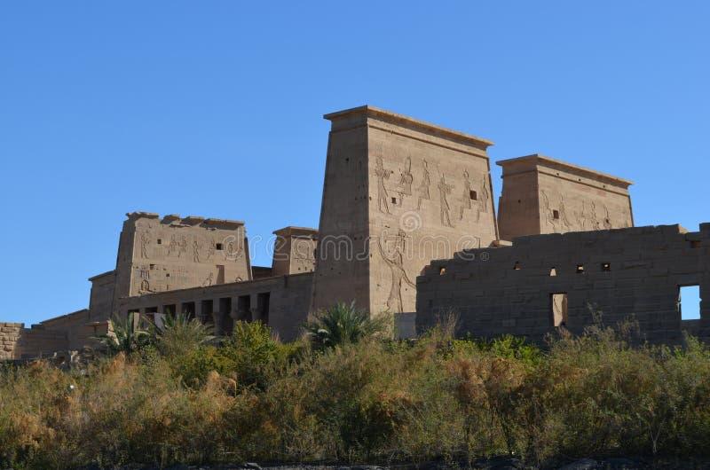 菲莱,古埃及寺庙  免版税库存照片