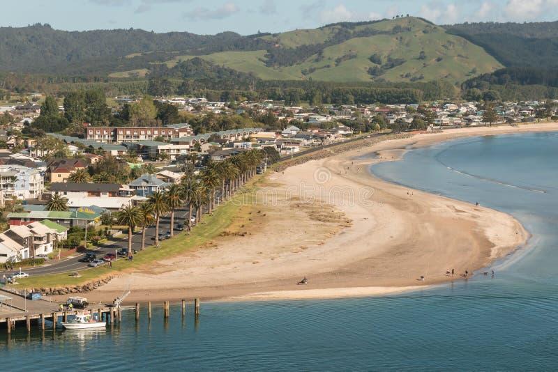 菲蒂昂格鸟瞰图Coromandel半岛的 免版税库存照片