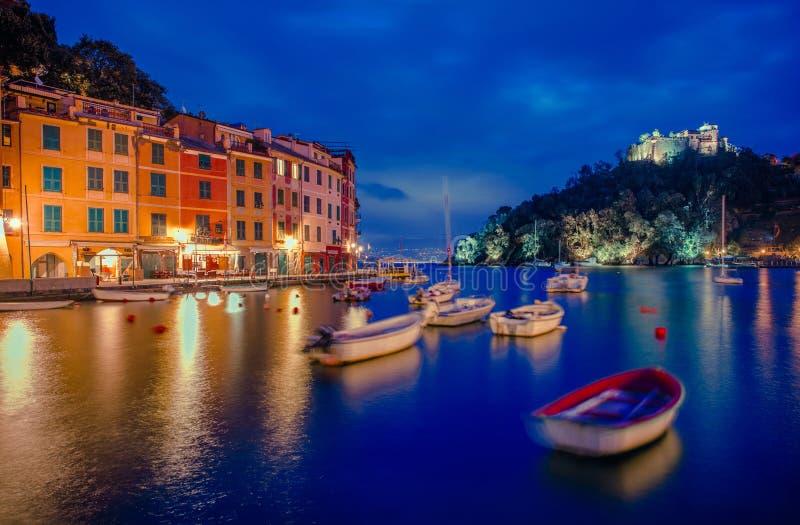 菲诺港和Castello布朗 免版税库存图片